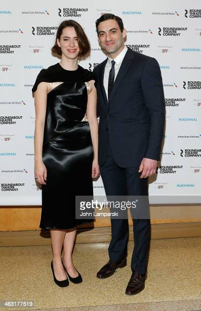 Rebecca Hall and Morgan Spector attend the Broadway opening night of 'Machinal' at American Airlines Theatre on January 16 2014 in New York New York