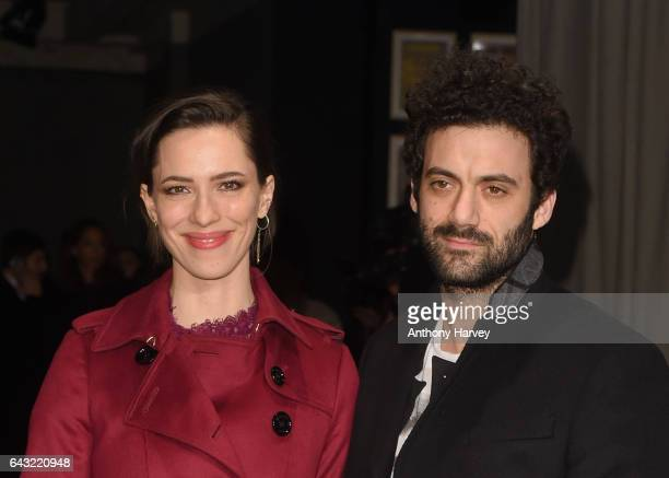 Rebecca Hall and Morgan Spector attends the Burberry show during the London Fashion Week February 2017 collections on February 20 2017 in London...