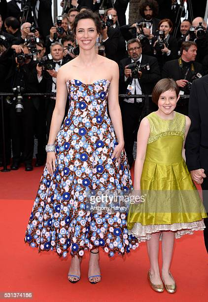 Rebecca Hall and Ruby Barnhill attend the 'The BFG ' premiere during the 69th annual Cannes Film Festival at the Palais des Festivals on May 14, 2016...