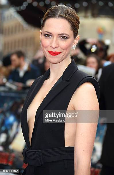 Rebecca Hall attends a special screening of 'Iron Man 3' at Odeon Leicester Square on April 18 2013 in London England