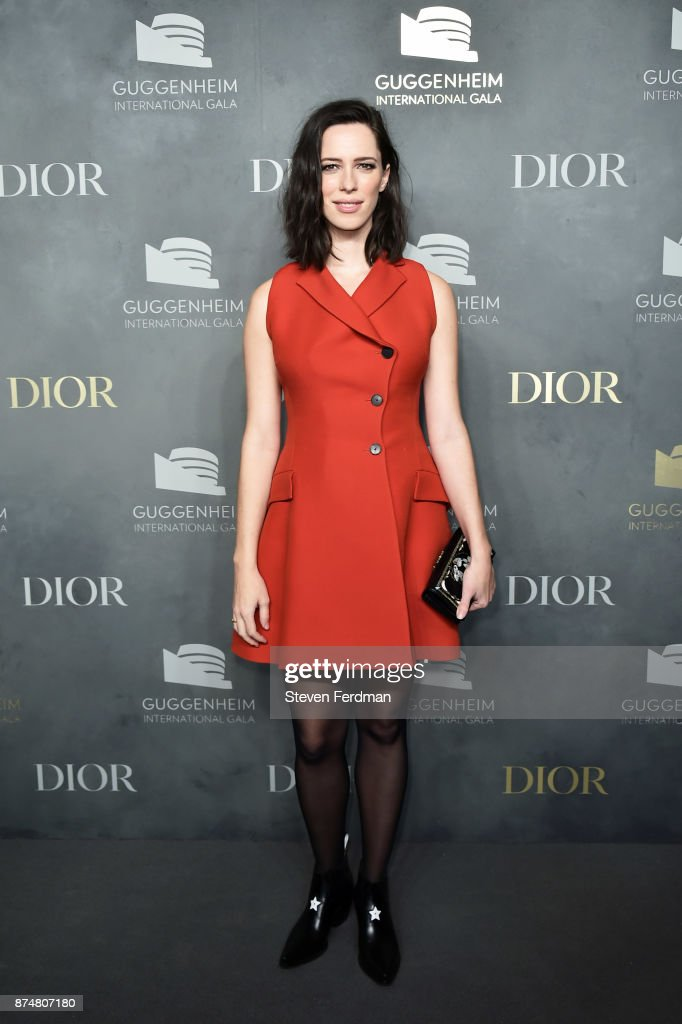 Rebecca Hall attends the 2017 Guggenheim International Gala Pre-Party made possible by Dior on November 15, 2017 in New York City.