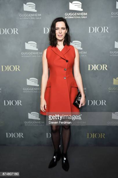 Rebecca Hall attends the 2017 Guggenheim International Gala PreParty made possible by Dior on November 15 2017 in New York City