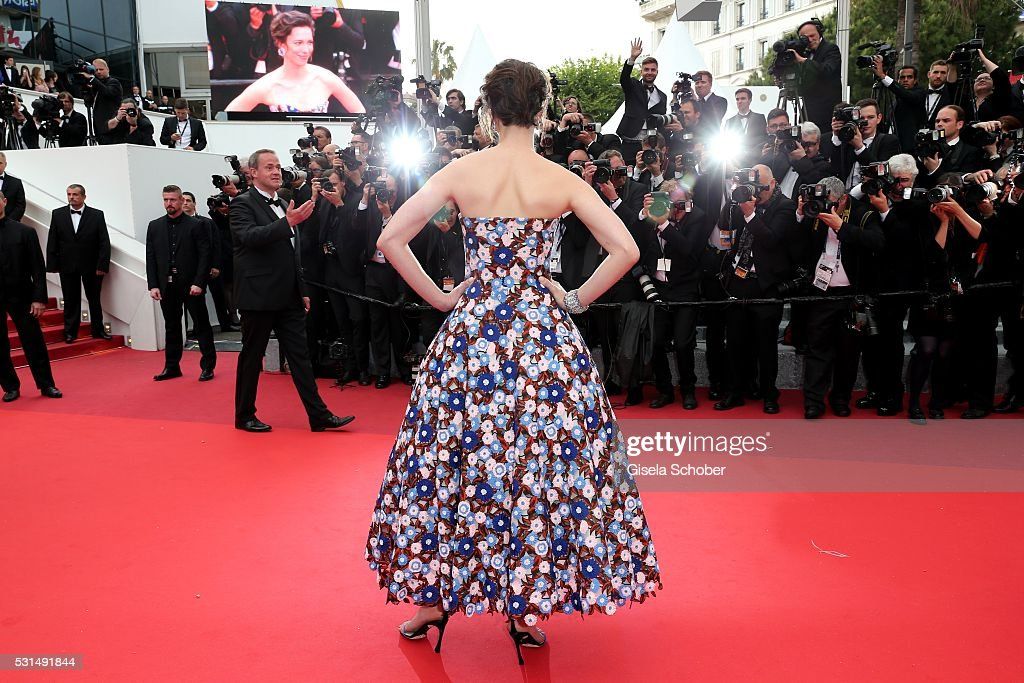 Rebecca Hall attends 'The BFG (Le Bon Gros Geant - Le BGG)' premiere during the 69th annual Cannes Film Festival at the Palais des Festivals on May 14, 2016 in Cannes, France.