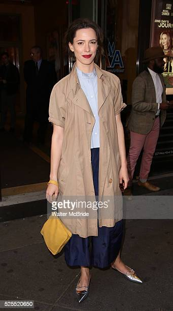 Rebecca Hall attends the Broadway Opening Night of 'Long Days Journey Into Night' at the American Airlines Theatre Theatre on April 27 2016 in New...