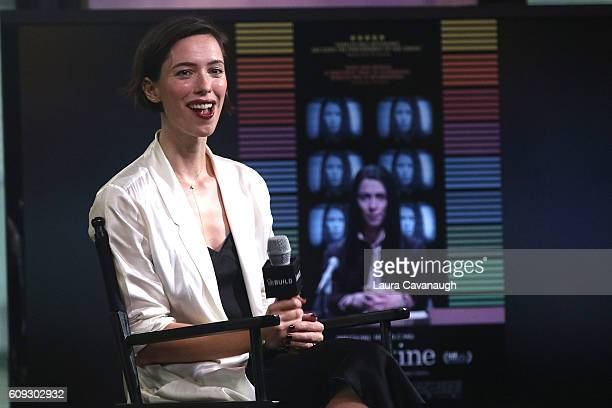 Rebecca Hall attends The Build Series to discuss 'Christine' at AOL HQ on September 20 2016 in New York City