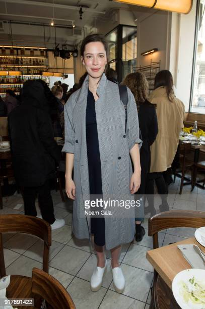Rebecca Hall attends the Gabriela Hearst fashion show during New York Fashion Week on February 13 2018 in New York City