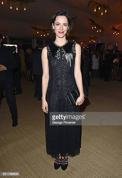 Rebecca Hall attends The Hollywood Foreign Press Association Honour Filmaid International party during The 69th Annual Cannes Film Festival on May 13...
