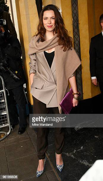 Rebecca Hall attends The South Bank Show Awards at The Dorchester on January 26 2010 in London England