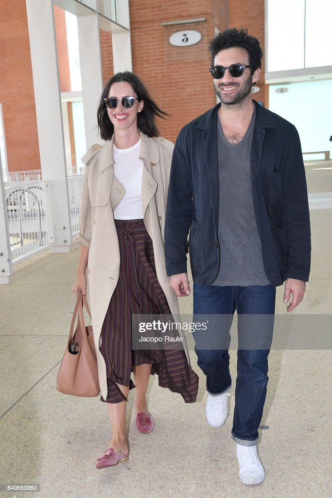 Airport Celebrity Sightings Ahead Of The 74th Venice Film Festival : News Photo