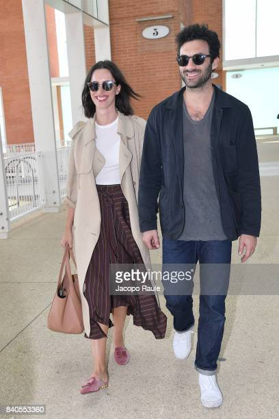 Rebecca Hall is seen arriving at Venice Airport ahead of the 74 Venice Film Festival on August 29 2017 in Venice Italy