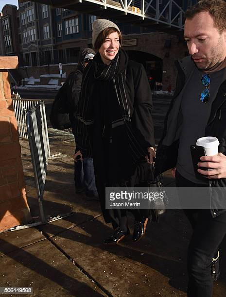 Rebecca Hall is seen at the Sundance Film Festival on January 23 2016 in Park City Utah