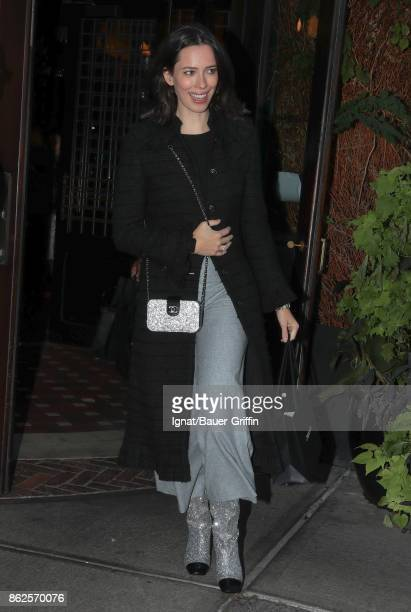 Rebecca Hall is seen on October 17 2017 in New York City