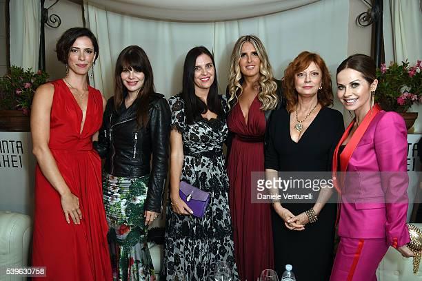 Rebecca Hall Lucila Sola Gisella Marengo Tiziana Rocca Susan Sarandon and Chantal Sciuto attend 62 Taormina Film Fest Day 2 on June 12 2016 in...