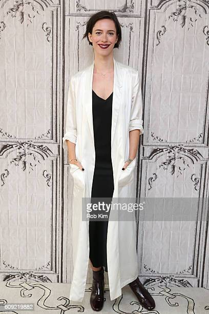 Rebecca Hall poses for a photo at the Build Series at AOL HQ on September 20 2016 in New York City