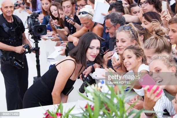 Rebecca Hall walks the red carpet ahead of the 'Suburbicon' screening during the 74th Venice Film Festival at Sala Grande on September 2 2017 in...