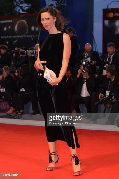 Rebecca Hall walks the red carpet ahead of the 'Three Billboards Outside Ebbing Missouri' screening during the 74th Venice Film Festival at Sala...