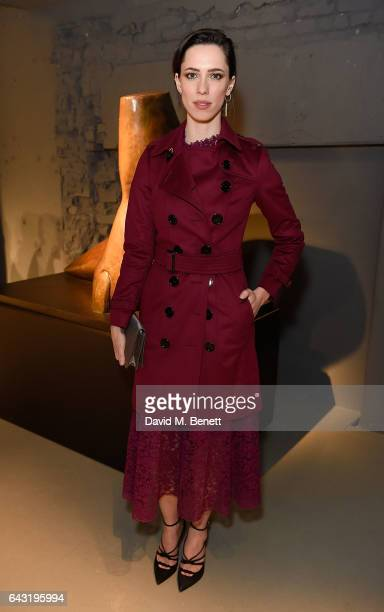Rebecca Hall wearing Burberry attends the Burberry February 2017 Show during London Fashion Week February 2017 at Makers House on February 20 2017 in...