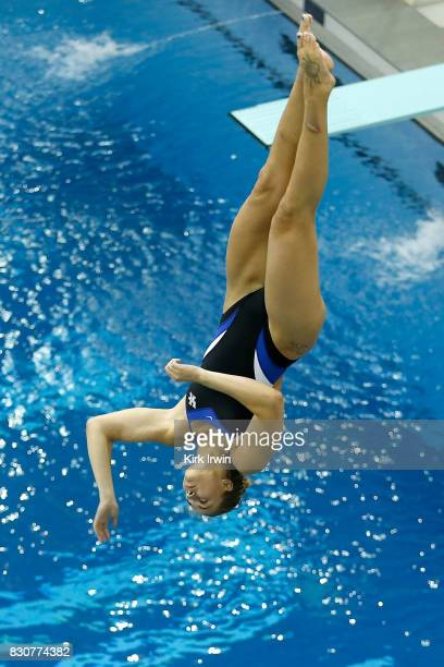Rebecca Hamperian of the Kentucky Diving Club competes during the Senior Women's 3m Springboard Final during the 2017 USA Diving Summer National...