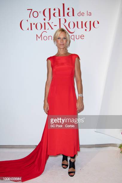 Rebecca Hampton attends the 70th Monaco Red Cross Ball Gala on July 27 2018 in MonteCarlo Monaco