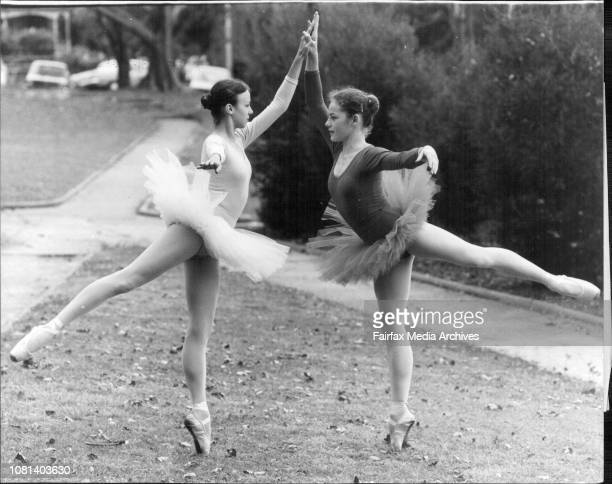 Rebecca Hancock 14 of Wollstonecraft and Fiona Shaw 14 Mosman of the Mavis Sykes School of Ballet are two of Sydney's youngest Ballet Dancers entered...