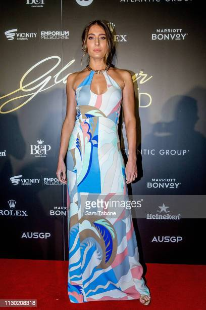 Rebecca Harding attends the Glamour on the Grid party at Albert Park on March 13 2019 in Melbourne Australia