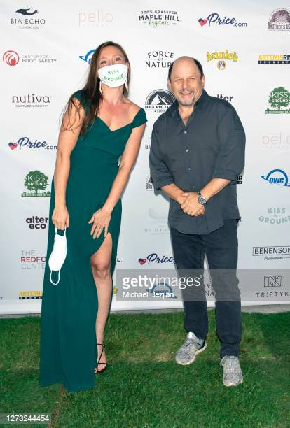 Rebecca Harrell and Jason Alexander attend Kiss The Ground Los Angeles DriveIn Special Screening at Andaz West Hollywood on September 17 2020 in West...