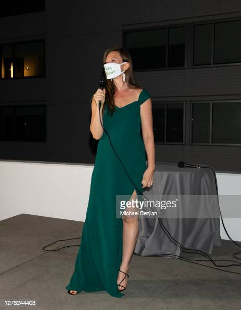 Rebecca Harrell speaks at Kiss The Ground Los Angeles DriveIn Special Screening at Andaz West Hollywood on September 17 2020 in West Hollywood...