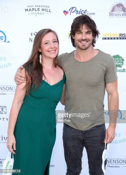 Rebecca Harrell Tickell and Ian Somerhalder attend a Special DriveIn Screening of KISS THE GROUND available on Netflix September 22 2020