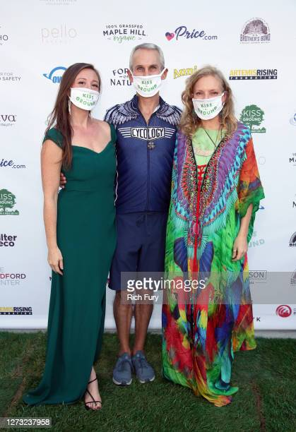 Rebecca Harrell Tickell Mark Sims and Simone Schultz attend a Special DriveIn Screening of KISS THE GROUND available on Netflix September 22 2020