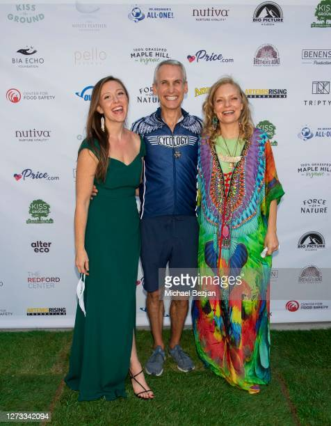 Rebecca Harrell Tickell Mark Sims and Simone Schultz attend Kiss The Ground Los Angeles DriveIn Special Screening at Andaz West Hollywood on...