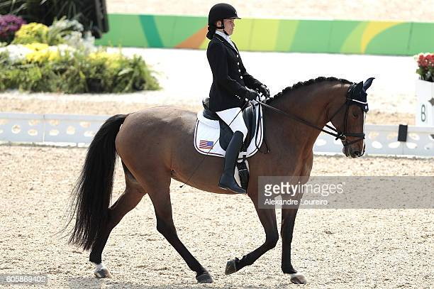 Rebecca Hart of United States onboard Romani during Equestrian Dressage Individual Championship Test Grade II Final on day 8 of the Rio 2016...