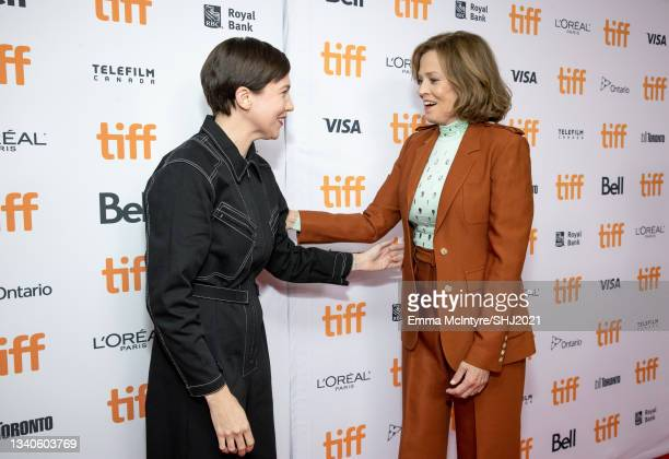 """Rebecca Henderson and Sigourney Weaver attend """"The Good House"""" Premiere during the 2021 Toronto International Film Festival at Roy Thomson Hall on..."""