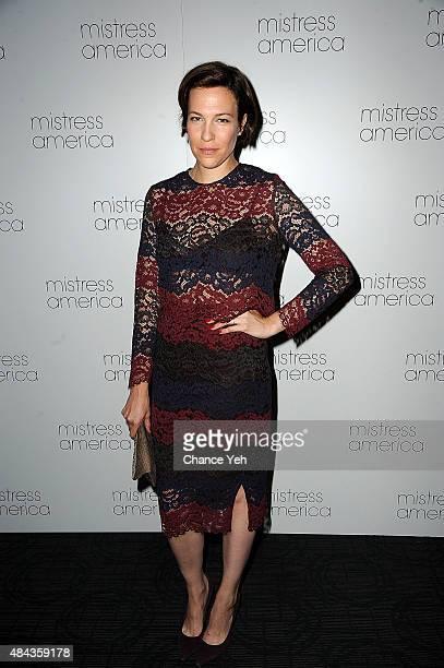 Rebecca Henderson attends 'Mistress America' New York premiere at Landmark Sunshine Cinema on August 12 2015 in New York City