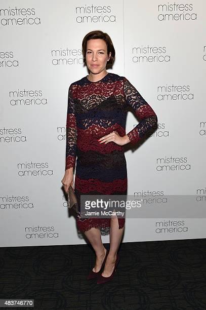 Rebecca Henderson attends the 'Mistress America' New York Premiere at Landmark Sunshine Cinema on August 12 2015 in New York City