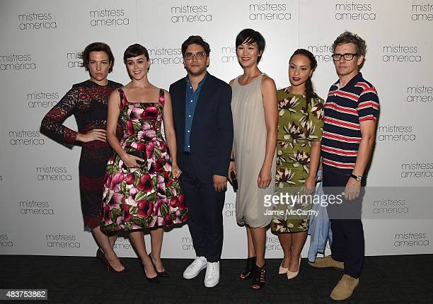 Rebecca Henderson Heather Lind Matthew Shear Cindy Cheung Jasmine Cephas Jones and Dean Wareham attend the Mistress America New York Premiere at...