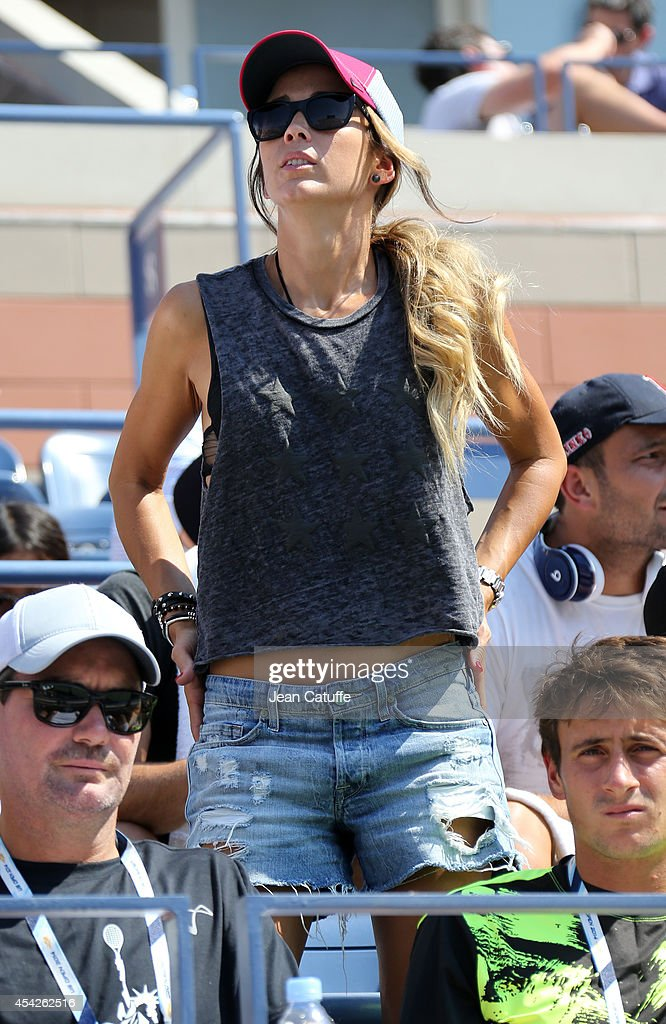 Rebecca Hewitt, wife of Lleyton Hewitt of Australia, attends her husband's match against Thomas Berdych of Czech Republic on Arthur Ashe Stadium on Day 3 of the 2014 US Open at USTA Billie Jean King National Tennis Center on August 27, 2014 in the Flushing neighborhood of the Queens borough of New York City.