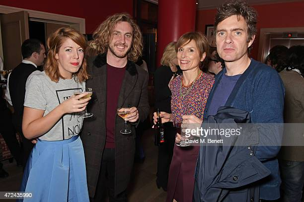 Rebecca Humphries Seann Walsh Amelia Bullmore and Paul Higgins attend a special screening of The Donmar Warehouse production of 'The Vote' at the Ham...