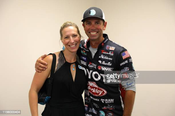 Rebecca Iaconelli and Mike Iaconelli attend the Gloucester County Chamber of Commerce Fish and Mingle with the Ike Foundation to promote youth...
