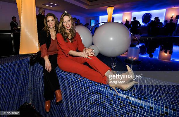 Rebecca Immanuel and AnnKathrin Kramer during the ARD advent dinner hosted by the program director of the tv station Erstes Deutsches Fernsehen at...