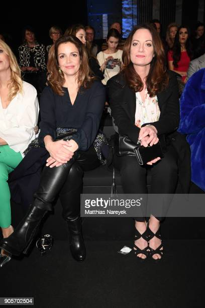 Rebecca Immanuel and Natalie Woerner attend the Riani show during the MBFW Berlin January 2018 at ewerk on January 16 2018 in Berlin Germany