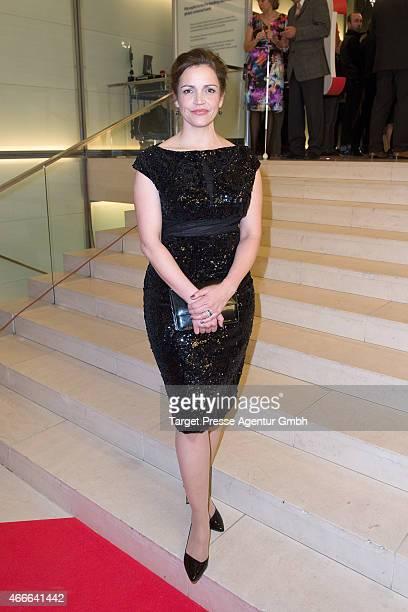 Rebecca Immanuel attends the Deutscher Hoerfilmpreis 2015 at Deutsche Bank on March 17 2015 in Berlin Germany
