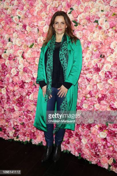 Rebecca Immanuel attends the Riani after show party during the Berlin Fashion Week Autumn/Winter 2019 at Grace Hotel Zoo on January 16 2019 in Berlin...