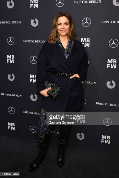 Rebecca Immanuel attends the Riani show during the MBFW Berlin January 2018 at ewerk on January 16 2018 in Berlin Germany