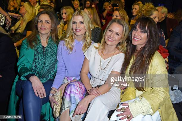 Rebecca Immanuel, Tanja Buelter, Nova Meierhenrich and Christine Neubauer attend the Riani fashion show during the Berlin Fashion Week Autumn/Winter...