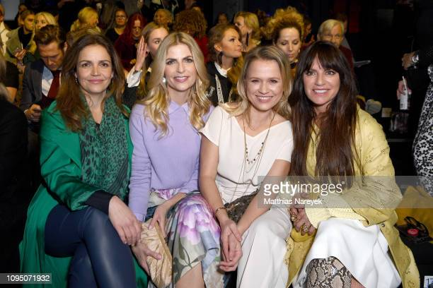 Rebecca Immanuel Tanja Buelter Nova Meierhenrich and Christine Neubauer attend the Riani show during the Berlin Fashion Week Autumn/Winter 2019 at...