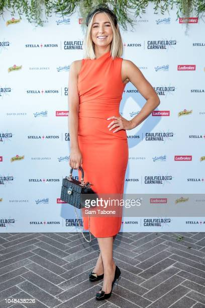 Rebecca James during the Caulfield Cup Carnival Launch Media Call on October 10 2018 in Melbourne Australia