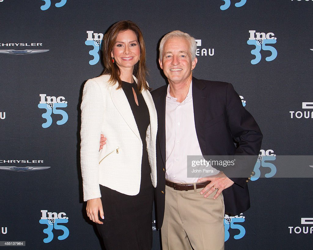 Rebecca Jarvis and Eric Schurenberg attend Inc. Magazine 35th Anniversary Party at Tourneau Time Machine on September 9, 2014 in New York City.