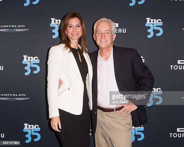 Rebecca Jarvis and Eric Schurenberg attend Inc Magazine 35th Anniversary Party at Tourneau Time Machine on September 9 2014 in New York City
