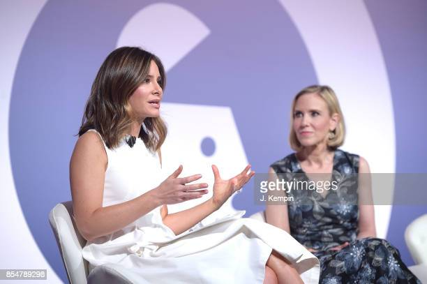 Rebecca Jarvis and Marne Levine attend the panel discussion for The Instagram Effect Where Business And Passions Meet at PlayStation Theater on...