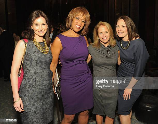 Rebecca Jarvis Gayle King Katie Couric and Erica Hill attend the Hollywood Reporter celebration of The 35 Most Powerful People in Media at the Four...
